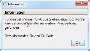 Kein passender QR-Code Handler gefunden