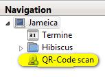 QR-Code Scan aus Navigation starten.
